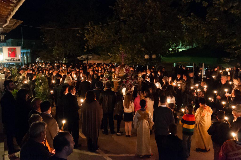 Processie Grieks Pasen